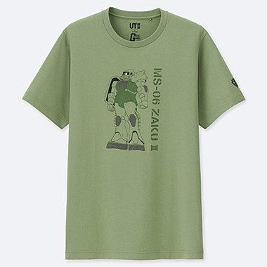 MOBILE SUIT GUNDAM 40TH ANNIVERSARY SHORT-SLEEVE GRAPHIC T-SHIRT, GREEN, medium