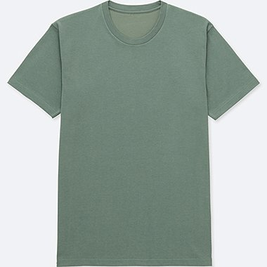 MEN PACKAGED DRY CREWNECK SHORT-SLEEVE T-SHIRT, GREEN, medium