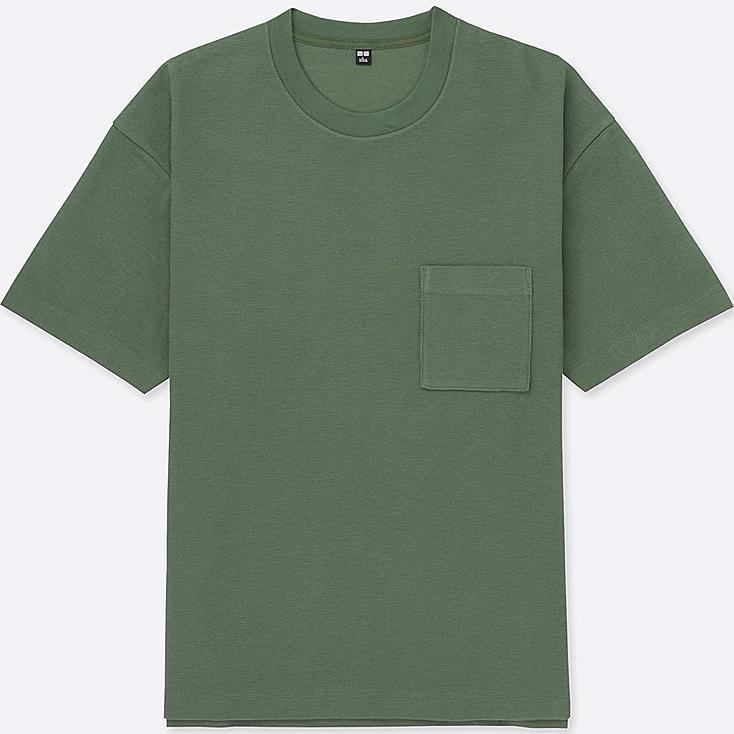 MEN OVERSIZED SHORT-SLEEVE CREWNECK T-SHIRT, GREEN, large