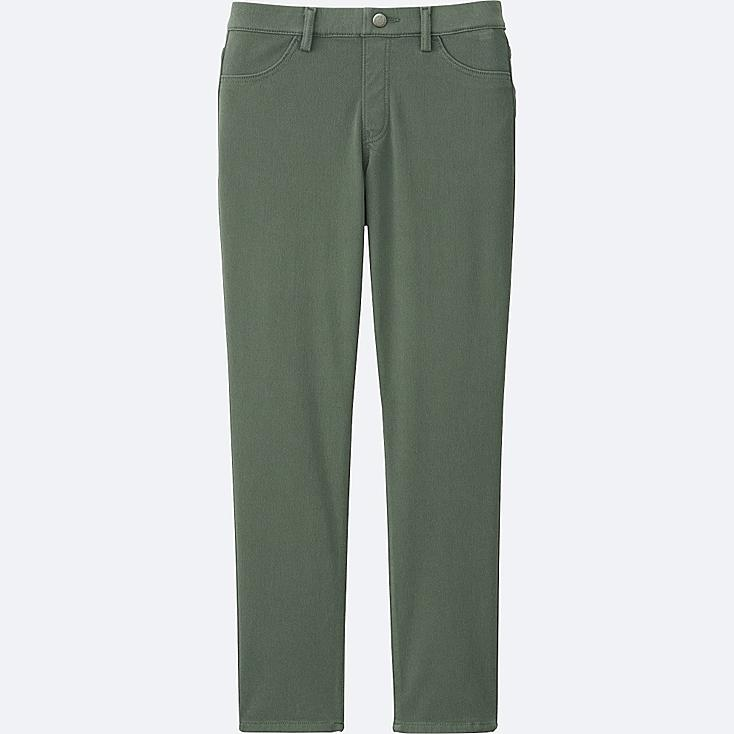 Excellent Uniqlo Women Cropped Leggings Pants In Khaki | Lyst