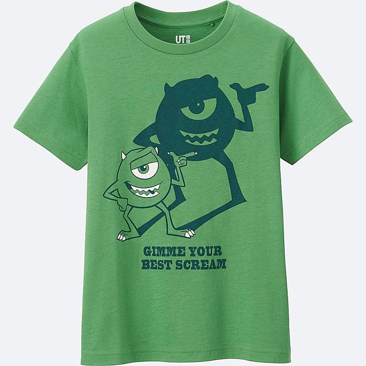 BOYS PIXAR SHORT SLEEVE GRAPHIC TEES, GREEN, large