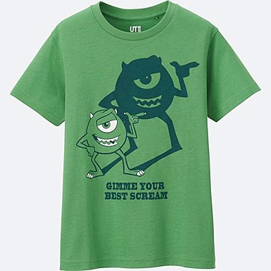 BOYS PIXAR SHORT SLEEVE GRAPHIC TEES, GREEN, medium