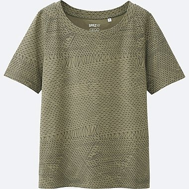 women sprz ny  super geometric graphic t-shirt (gego)