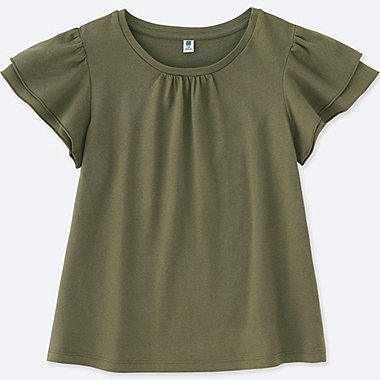 GIRLS Ruffle Short Sleeve T-Shirt