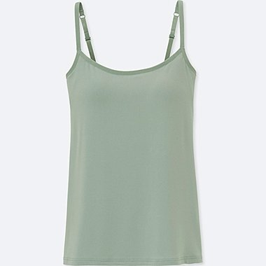 WOMEN AIRism BRA CAMISOLE, GREEN, medium