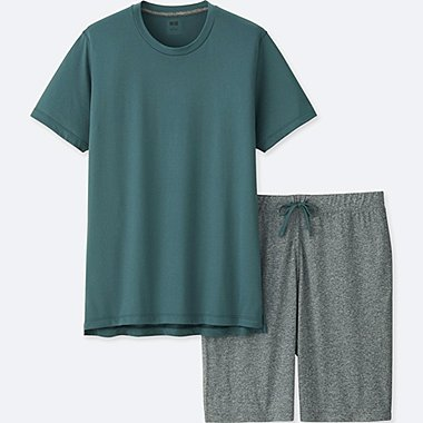 MEN AIRism LOUNGE SET, GREEN, medium