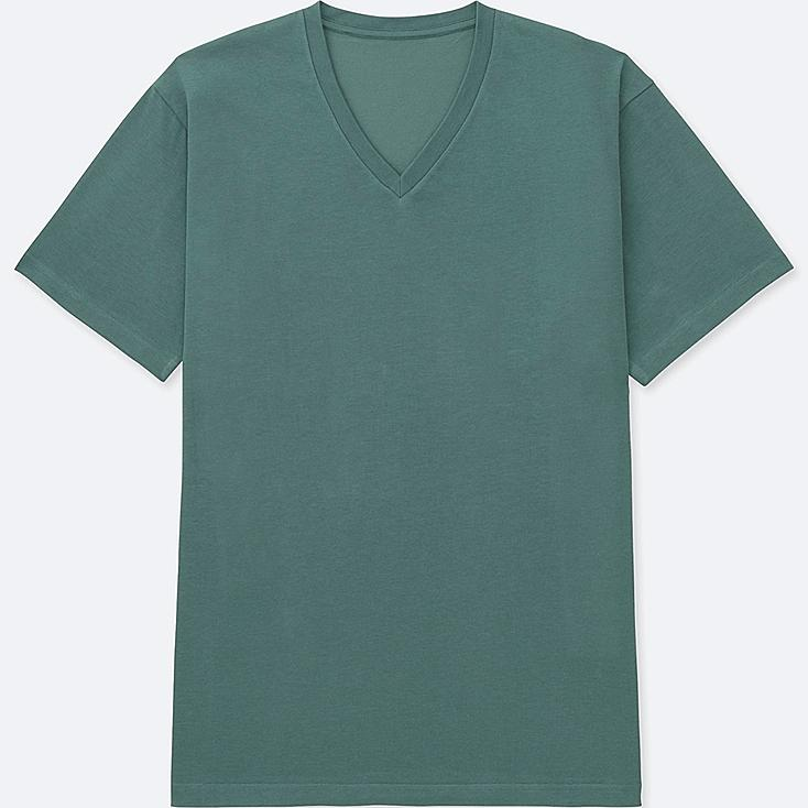 MEN PACKAGED DRY V-NECK SHORT-SLEEVE T-SHIRT, GREEN, large