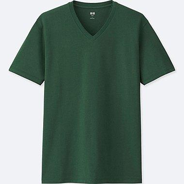 MEN SUPIMA® COTTON V-NECK SHORT-SLEEVE T-SHIRT, GREEN, medium