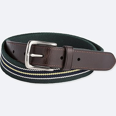 MEN STRETCH STRIPED WOVEN BELT