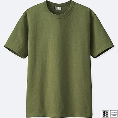 MEN U CREWNECK SHORT-SLEEVE T-SHIRT, GREEN, medium
