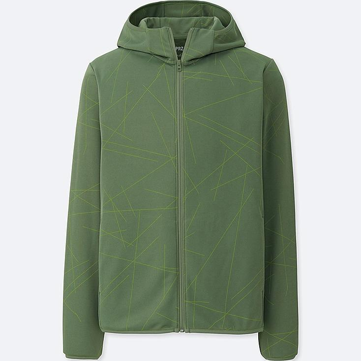 MEN SPRZ NY DRY-EX LONG-SLEEVE FULL-ZIP HOODIE (FRANCOIS MORELLET), GREEN, large