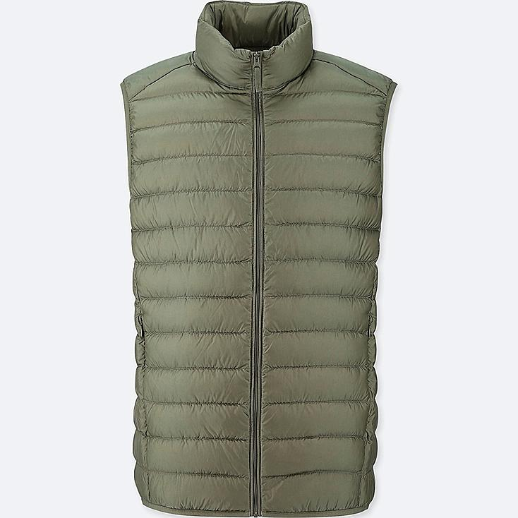 MEN ULTRA LIGHT DOWN VEST, GREEN, large