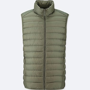 MEN ULTRA LIGHT DOWN VEST, GREEN, medium
