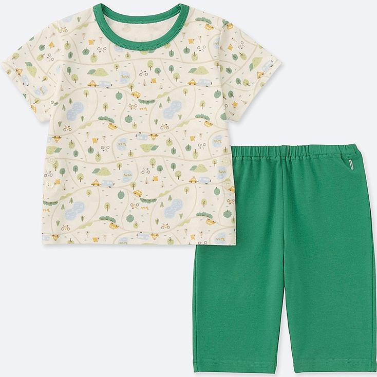 TODDLER DRY SHORT-SLEEVE PAJAMAS (ONLINE EXCLUSIVE), GREEN, large