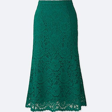 women lace flare skirt