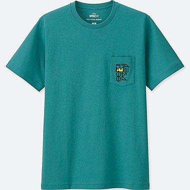 MEN SPRZ NY SHORT-SLEEVE GRAPHIC T-SHIRT (JEAN-MICHEL BASQUIAT), GREEN, medium