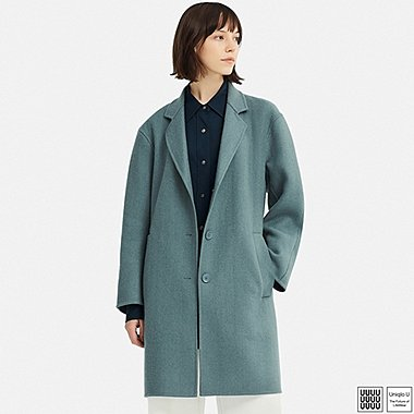 WOMEN UNIQLO U DOUBLE FACE OVER COAT