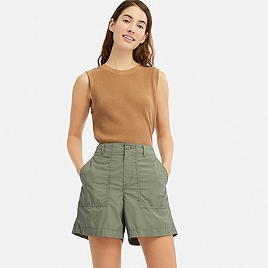 WOMEN BAKER SHORTS, GREEN, medium