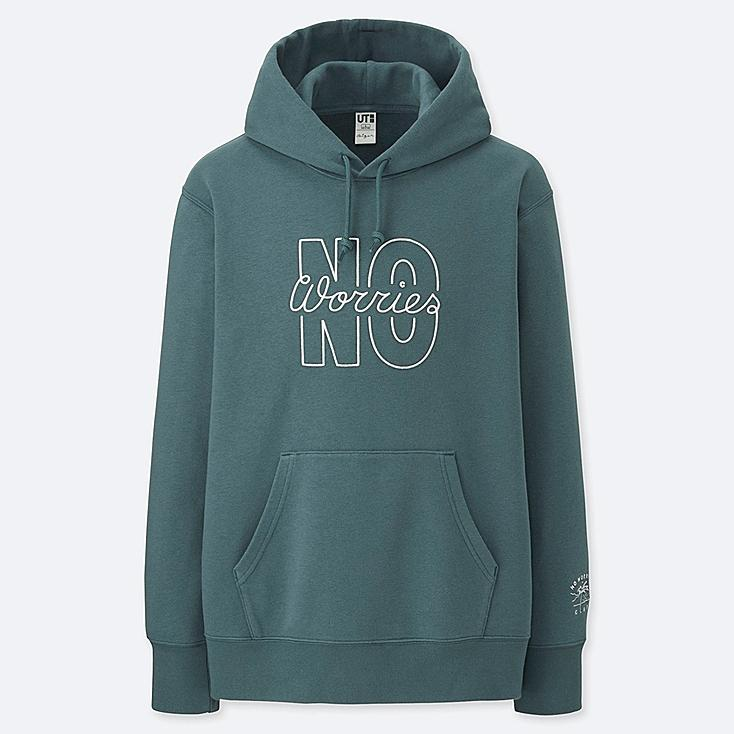 PIETER CEIZER GRAPHIC HOODED SWEATSHIRT, GREEN, large