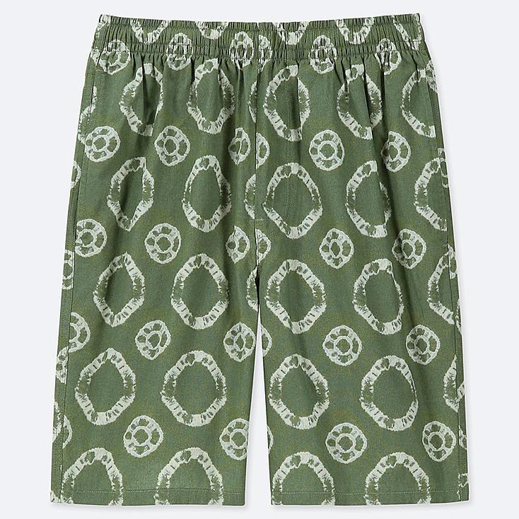 MEN LIGHT COTTON EASY SHORTS (ONLINE EXCLUSIVE), GREEN, large