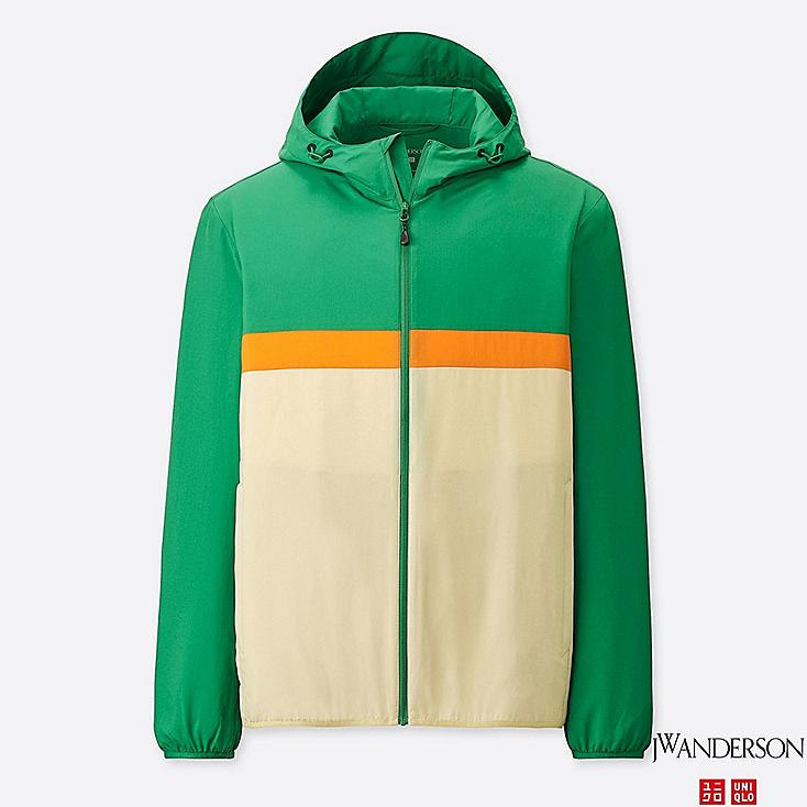 MEN POCKETABLE PARKA (JW Anderson), GREEN, large