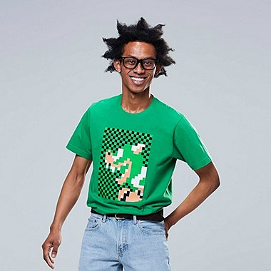 MEN SUPER MARIO GRAPHIC PRINT T-SHIRT