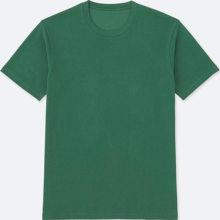 Men's DRY Crew Neck T-Shirt, GREEN, large