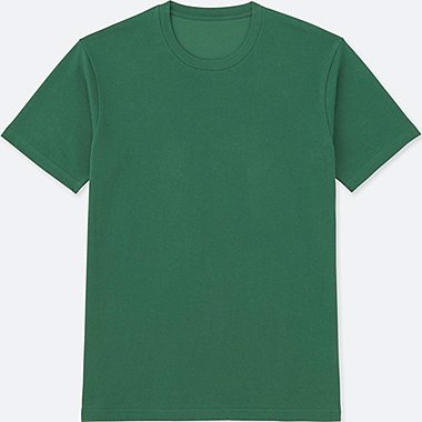 Mens DRY Crew Neck T-Shirt, GREEN, medium