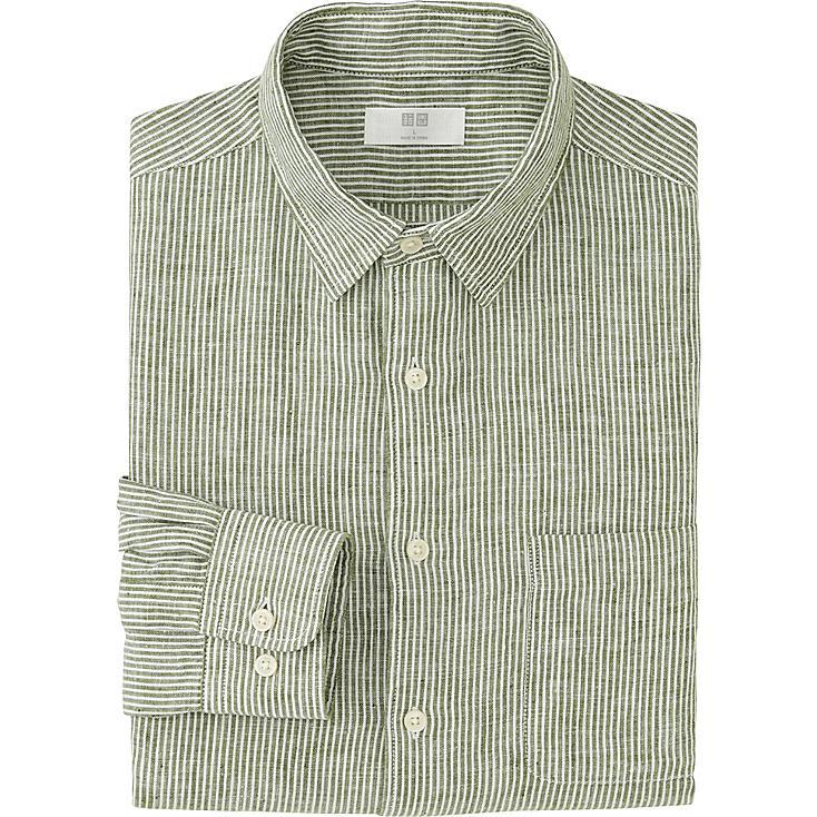 Striped Long Sleeve Linen Shirt