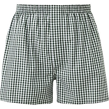 MEN WOVEN CHECKED TRUNKS, GREEN, medium