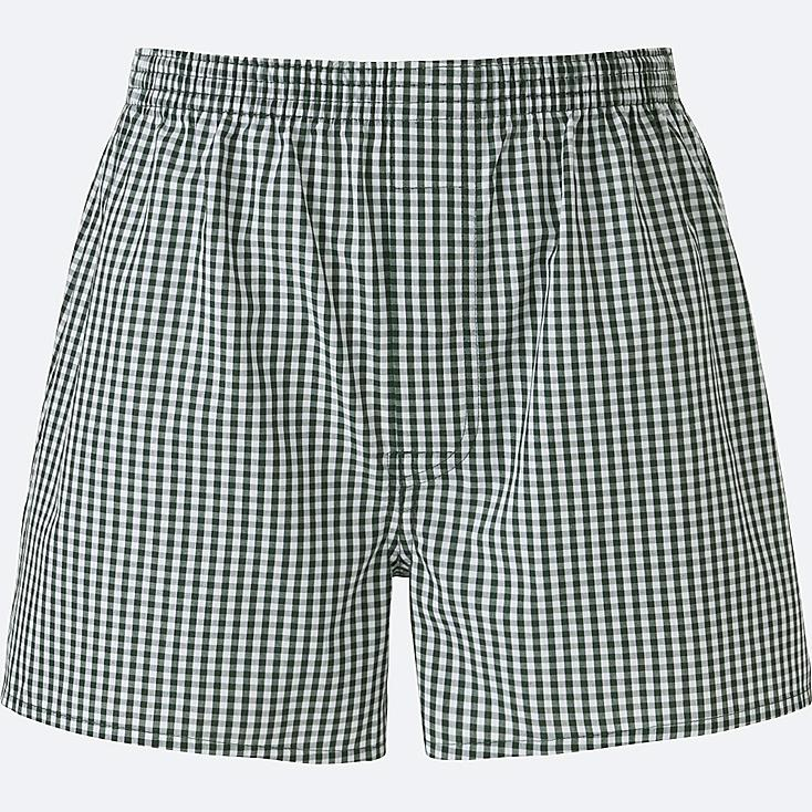 MEN Woven Checked Boxer Shorts