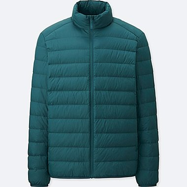 Men Ultra Light Down Jacket, GREEN, medium