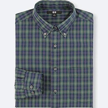 Camisa de algodón paño fino cuadros HOMBRE