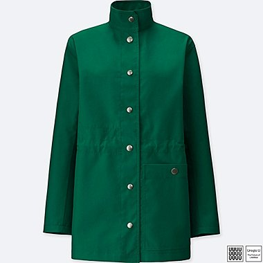 WOMEN U BLOCKTECH SHORT COAT, GREEN, medium