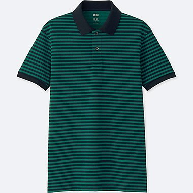 MEN DRY-EX PIQUE SHORT-SLEEVE POLO SHIRT, GREEN, medium