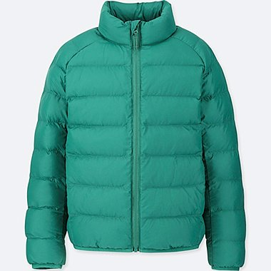 KIDS LIGHT WARM PADDED JACKET, GREEN, medium