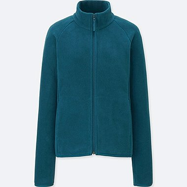 WOMEN FLEECE LONG-SLEEVE FULL-ZIP JACKET (ONLINE EXCLUSIVE), GREEN, medium