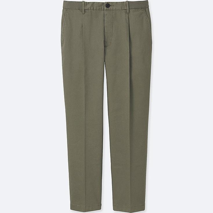 MEN RELAXED ANKLE-LENGTH PANTS (PLEATED) | Tuggl