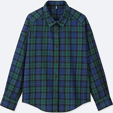 KIDS FLANNEL CHECKED LONG SLEEVE SHIRT