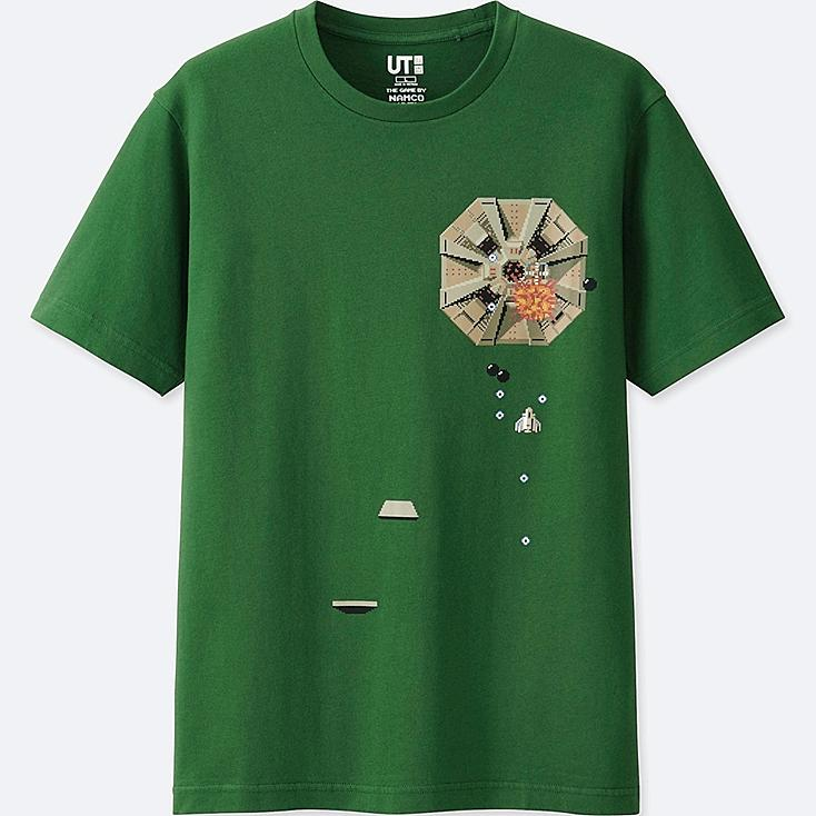 THE GAME BY NAMCO MUSEUM SHORT-SLEEVE GRAPHIC T-SHIRT (XEVIOUS), GREEN, large