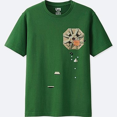 THE GAME BY NAMCO MUSEUM SHORT-SLEEVE GRAPHIC T-SHIRT (XEVIOUS), GREEN, medium