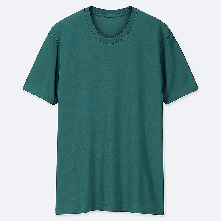 MEN PACKAGED DRY CREW NECK SHORT-SLEEVE T-SHIRT, GREEN, large