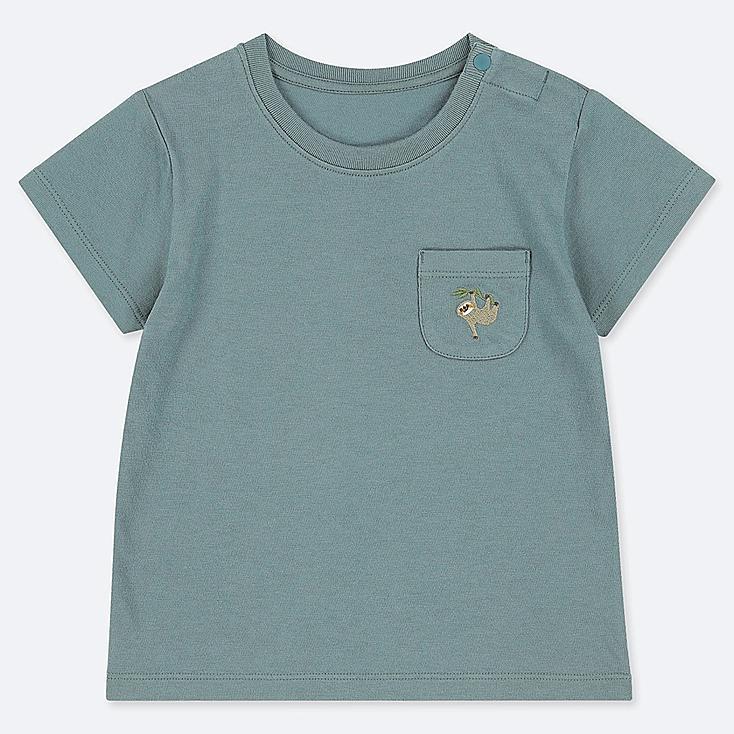 TODDLER CREW NECK SHORT-SLEEVE T-SHIRT, GREEN, large