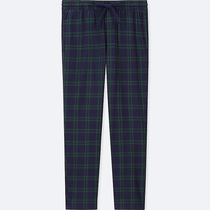 MEN FLANNEL EASY PANTS, GREEN, large