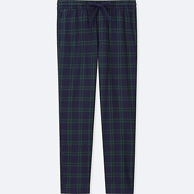 MEN FLANNEL EASY PANTS, GREEN, medium