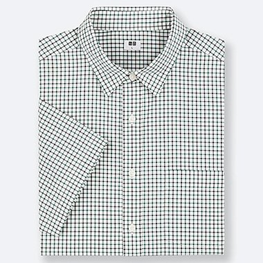 MEN EXTRA FINE COTTON REGULAR FIT CHECKED SHORT SLEEVED SHIRT (REGULAR COLLAR)