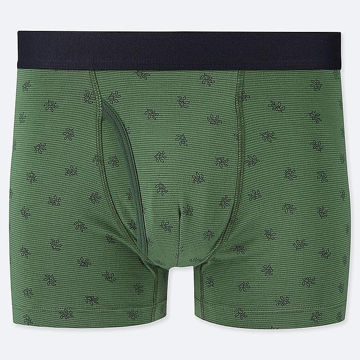 MEN SUPIMA® COTTON BOXER BRIEFS, GREEN, large
