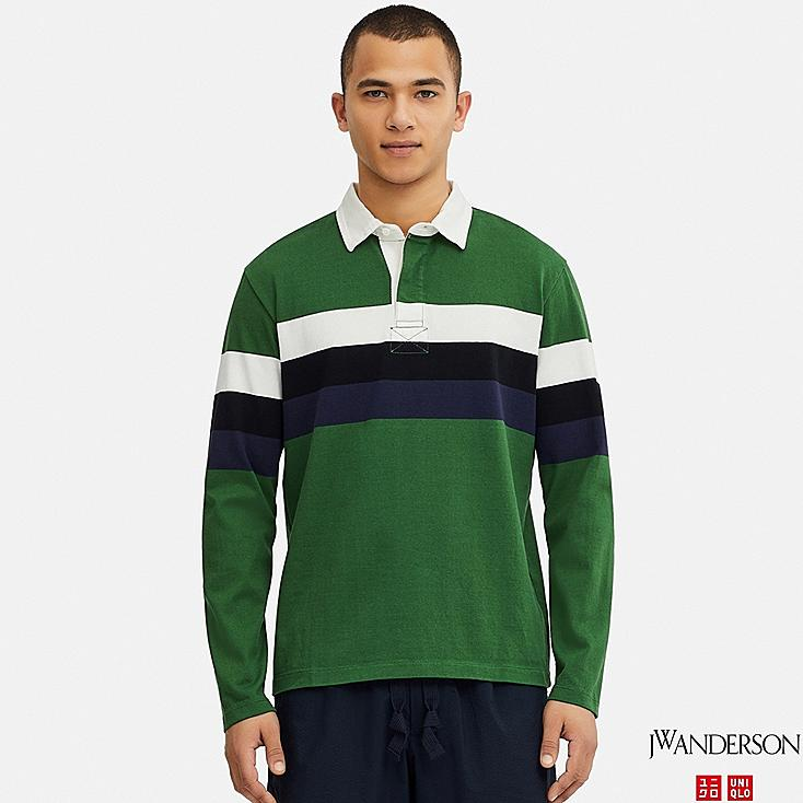 MEN LONG-SLEEVE RUGGER SHIRT (JW Anderson), GREEN, large
