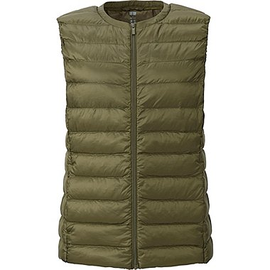 WOMEN ULTRA LIGHT DOWN COMPACT VEST, OLIVE, medium