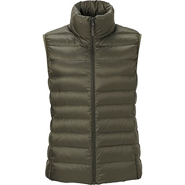 Womens Ultra Light Down Vest, OLIVE, medium